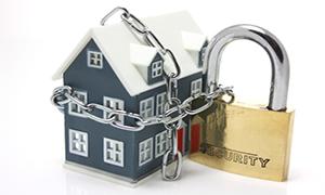 Seguridad, casa con candado